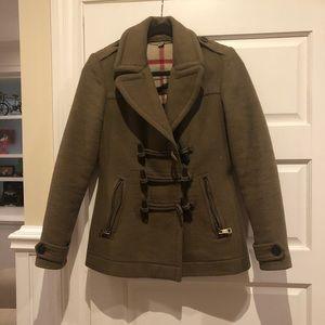 Burberry toggle wool coat/jacket l, size 6